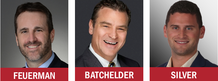 Berger Commercial Realty's Michael Feuerman, Brian Batchelder and Daniel Silver_hz